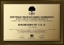 Certyfikat Wiarygodności Gospodarczej 2011 ENG